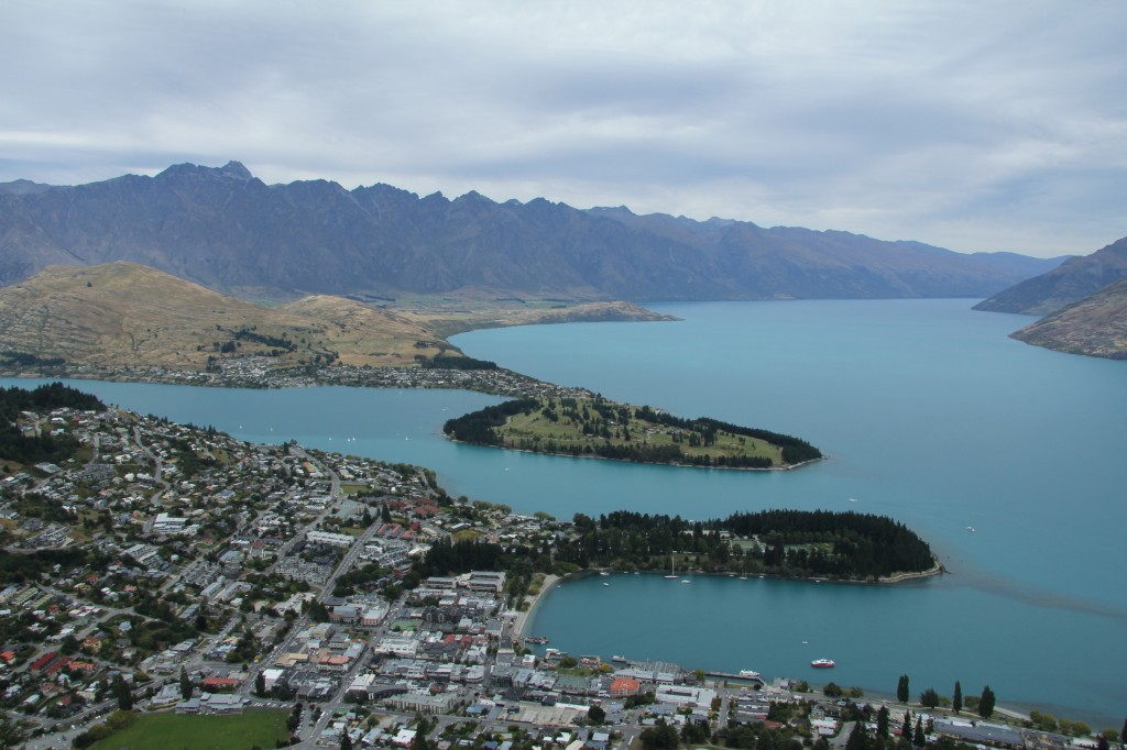 Ariel view of Queenstown New Zealand by Travel Producer