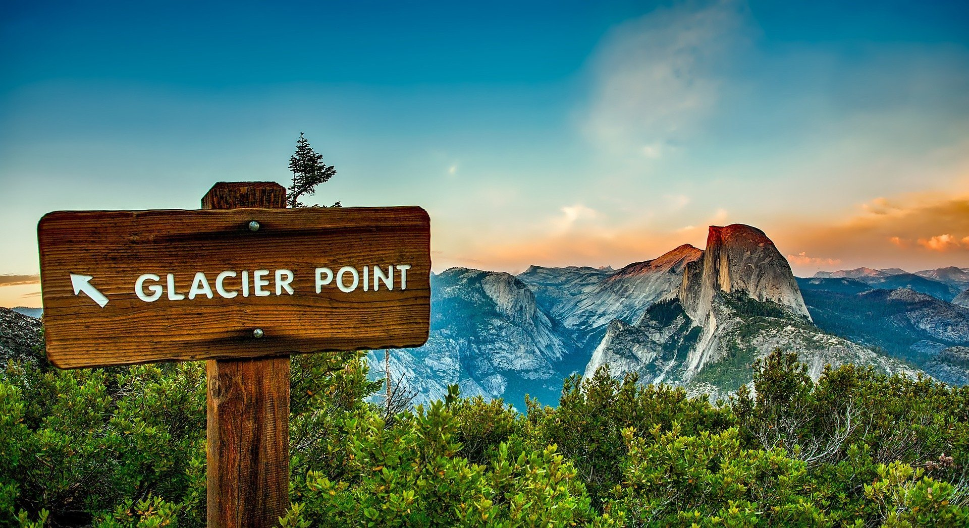 USA Glacier Point Yosemite