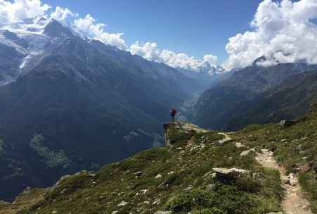 Hiking Zermat Valley Switzerland swiss