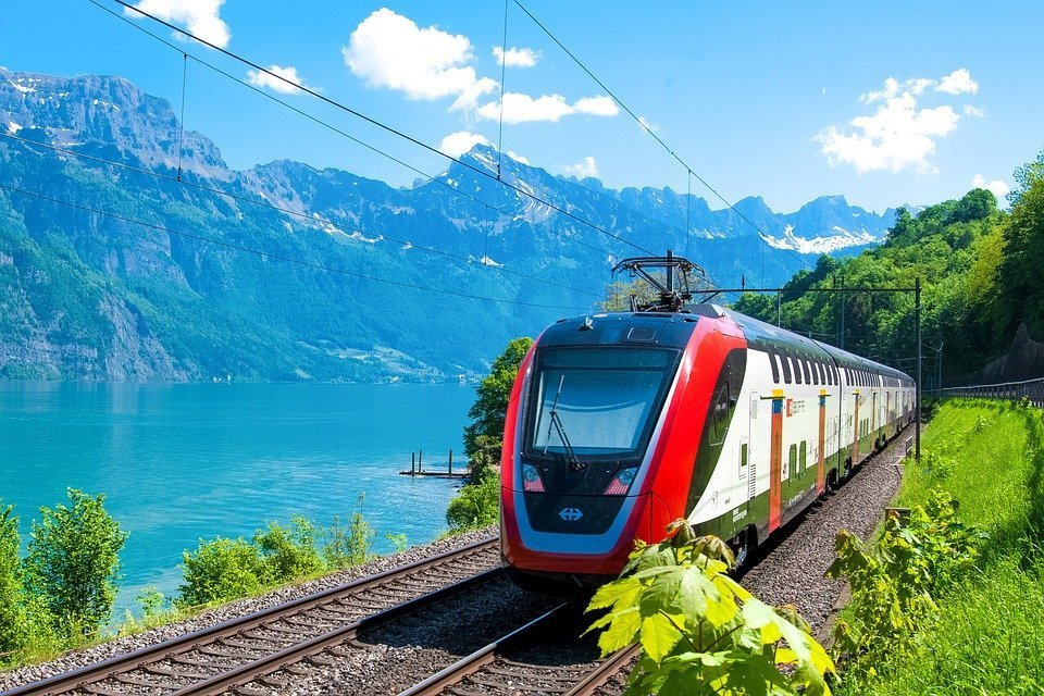 Swiss train high speed travel