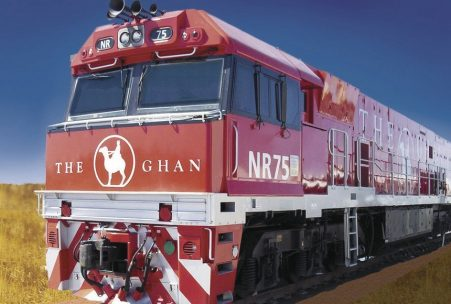 The Ghan locomotive Australia