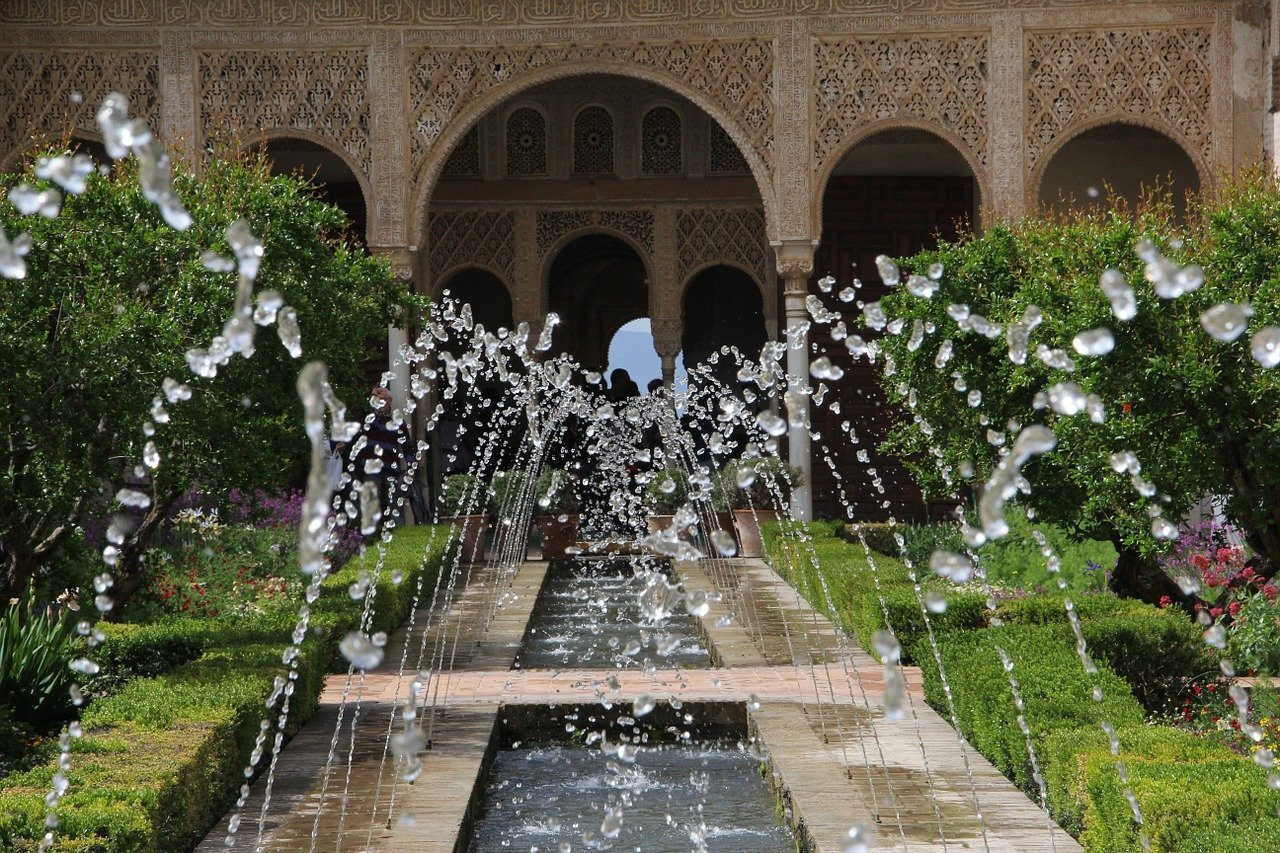 Alhambra Palace, Granada, Andalusia, Spain.