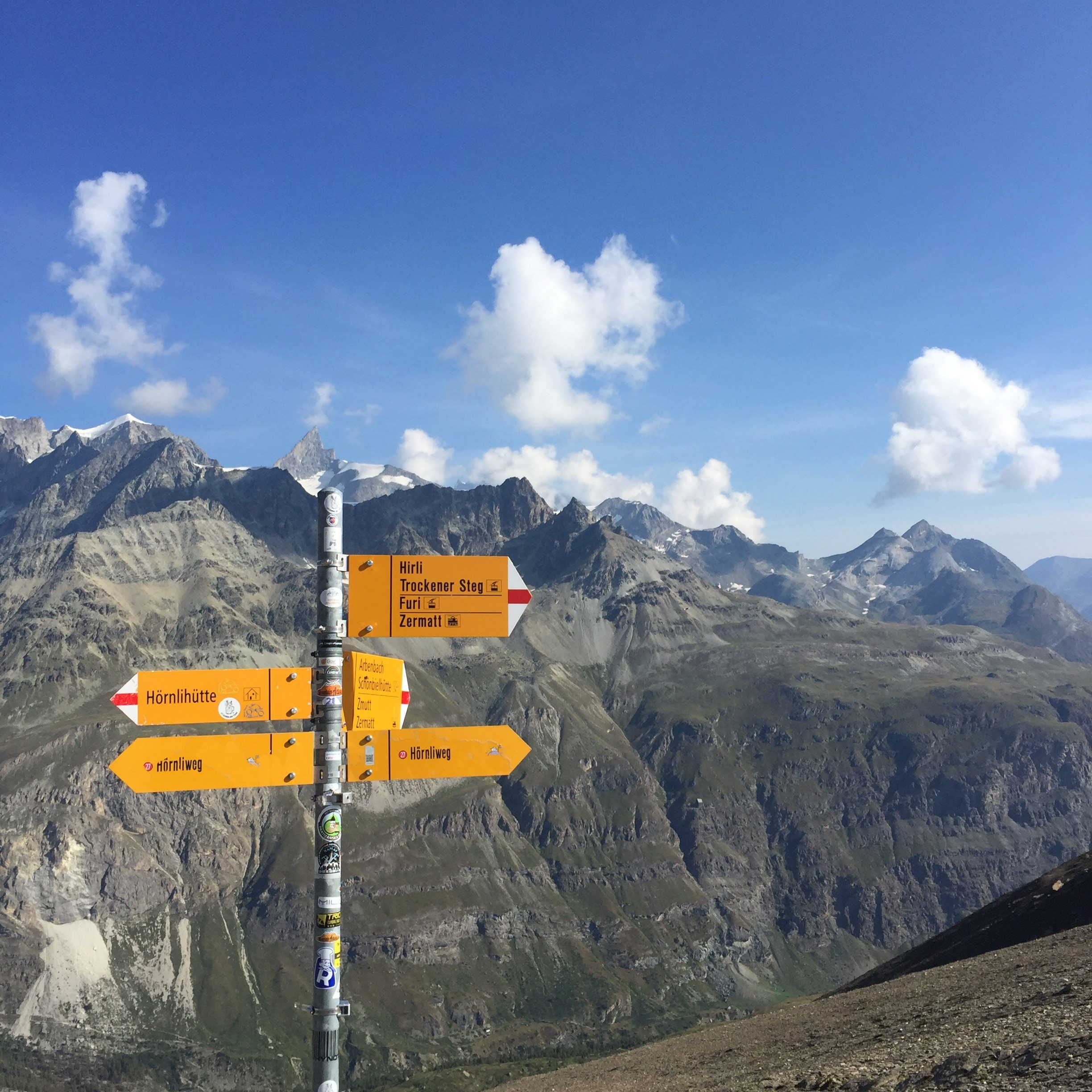 Swiss walking sign