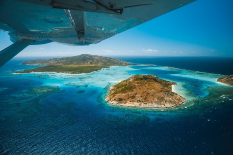 Flight into Lizard island